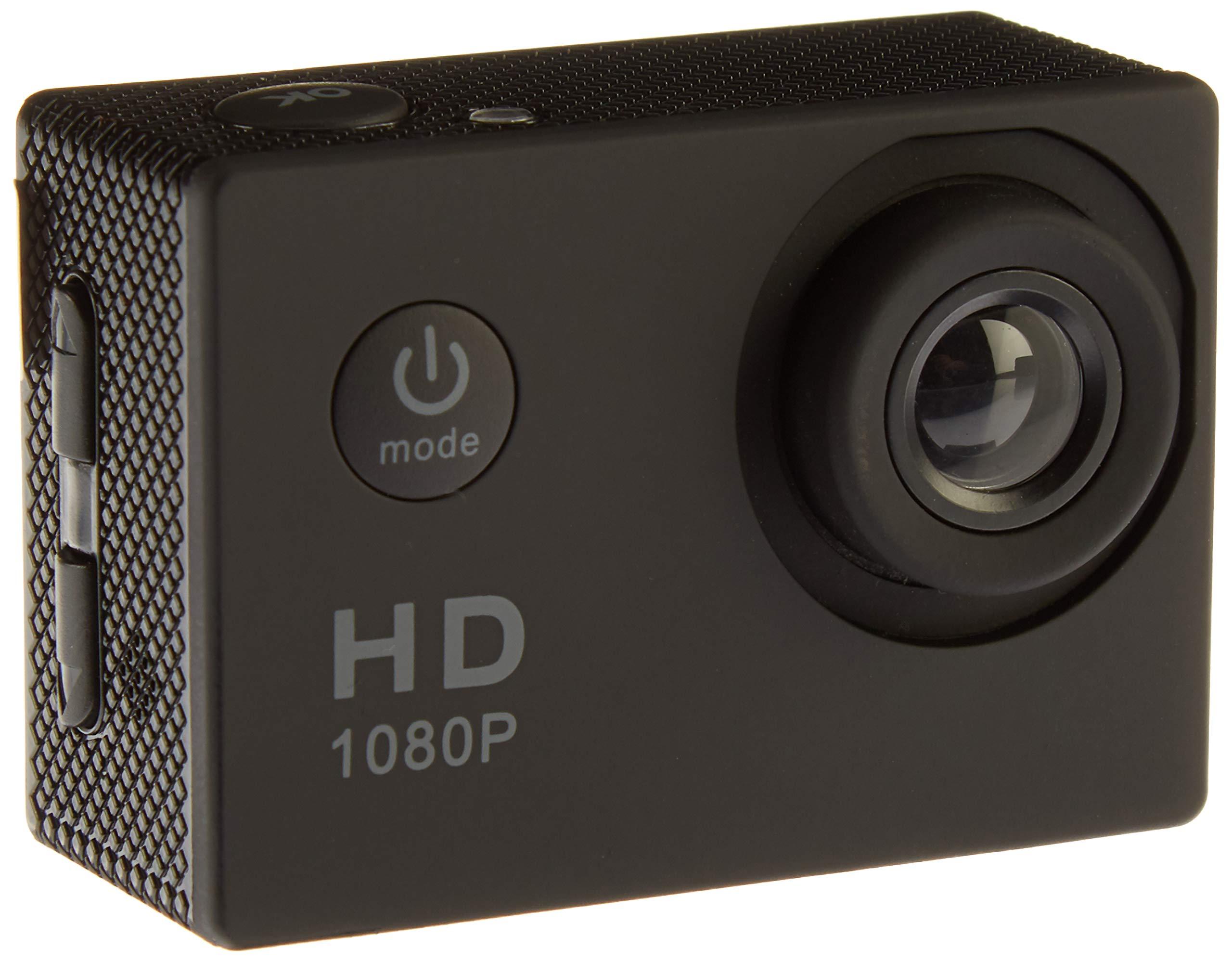 アクションカメラ、 12 MP 1080 P 2インチLCDスクリーン、防水モーションカム120度広角レンズ、30 mモーションカメラ2つの充電式バッテリーとマウントキット1080 T 06