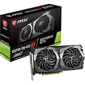 MSI Gaming GeForce GTX 1650 128-Bit HDMI/DP 4GB GDRR5 HDCP Support DirectX 12 Dual Fan VR Ready OC Graphics Card (GTX 1650 Gaming X 4G) (Renewed)