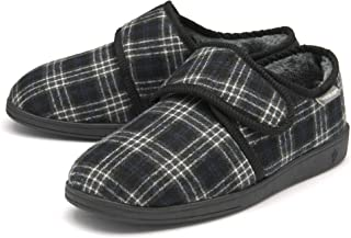 Dunlop Mens Slippers Easy Close Diabetic Orthopaedic Comfy Memory Foam Size 7-12
