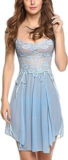 Avidlove Women Lingerie Forky Nightwear Mesh Babydolls Lace Chemises