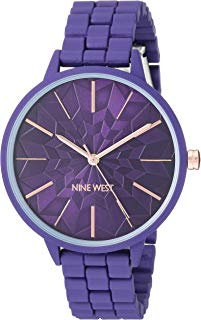 Nine West NW/2334PRPR - Reloj de pulsera para mujer, color morado