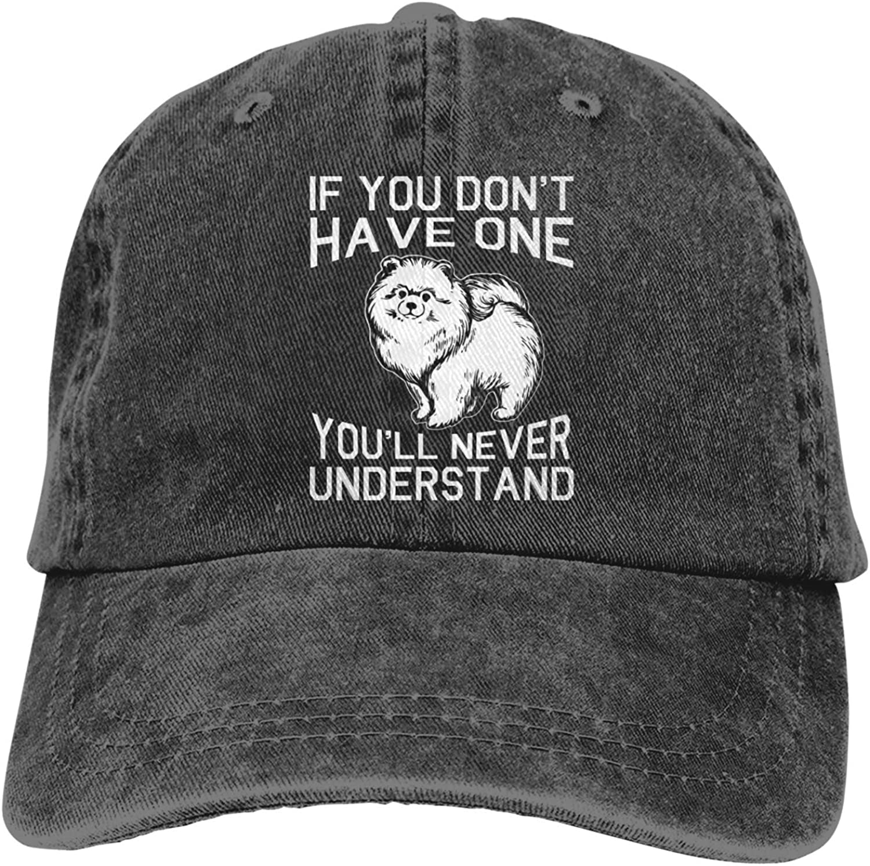 Pomeranian Dog Men's Adult Cowboy Hat Hand Wash Cotton Cap Baseball Cap