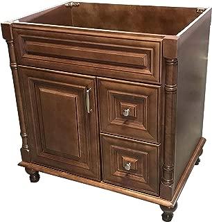 Maple Walnut solid wood Single Bathroom Vanity Base Cabinet 30