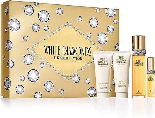 Elizabeth Taylor Ladies Gift Set (Includes 3.3oz Eau De Parfume, Body Lotion, Body Wash, & Eau De Toilette Spray)
