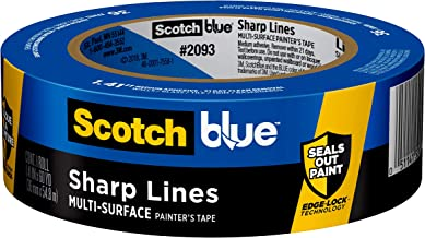 ScotchBlue Sharp Lines Multi-Surface Painter's Tape, 2093, 1.41 inch x 60 yard, 1 Roll