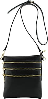 Amy&Joey 4 pockets functional light weight cross body bags with removable crossbody strap