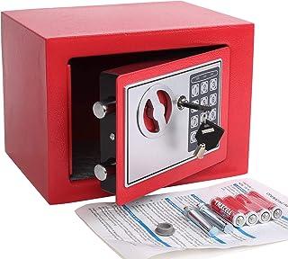 Yuanshikj Electronic Deluxe Digital Security Safe Box Keypad Lock Home Office Hotel..