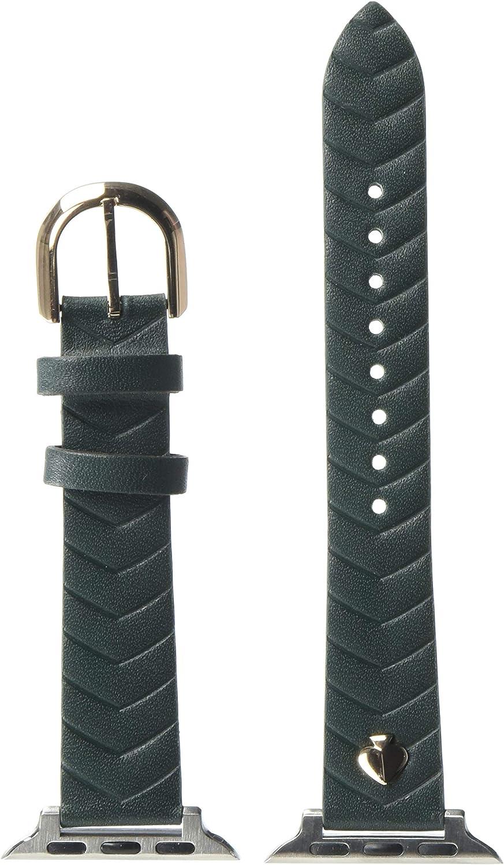 kate spade new york matte green pvc leather 38/40mm interchangeable smartwatch band