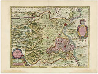 The Blaeu Prints   Vaucluse, Provence-Alpes-Cote d'Azur - Historical Map Print from Antique Atlas by Joan Blaeu - Old Map Shows: Avignon, Carpentras, Orange