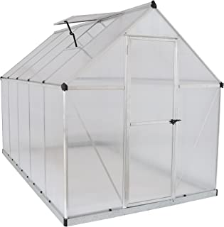 Palram HG5010 Mythos Greenhouse, 6' x 10' x 7', Silver