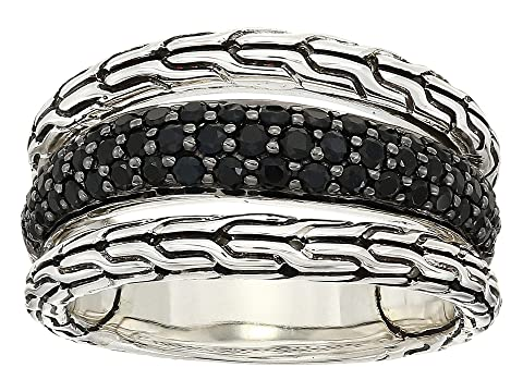 John Hardy Classic Chain Ring with Black Sapphire and Black Spinel