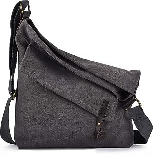 COOFIT Canvas Bag for Women Crossbody Bag Messenger Bag Shoulder Bag Canvas Purse Bag Unisex