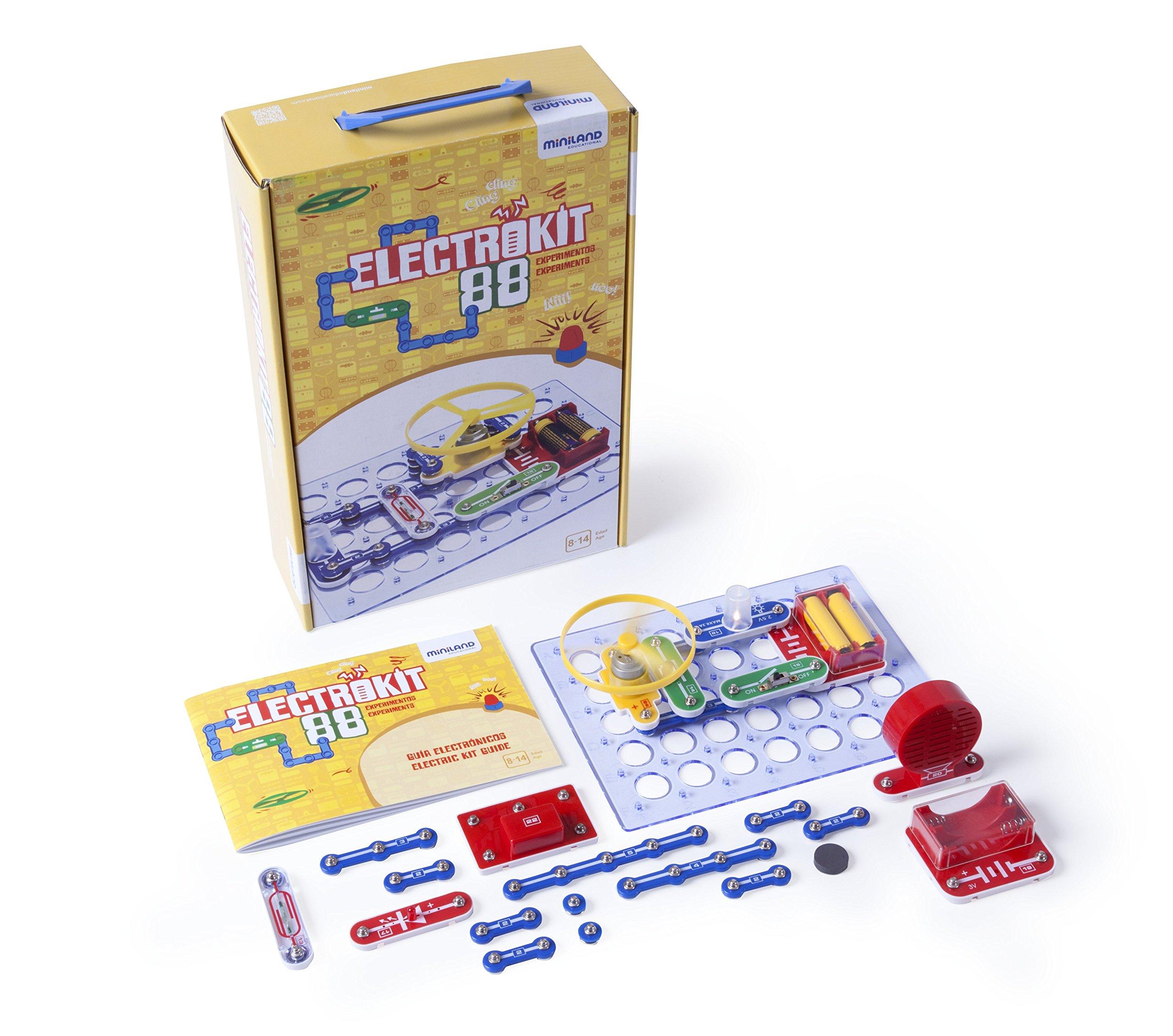 Miniland-Electrokit 88 experimentos Juguete electrónico, Color Variados, (99101): Amazon.es: Juguetes y juegos