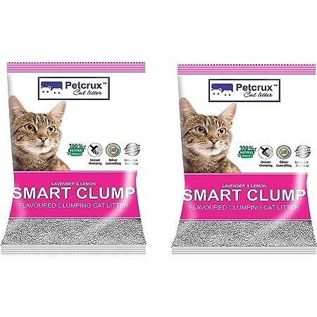 PetCrux Exclusive Scoopable Smart Bentonite Cat Litter, 5Kg (Pack of 2 - Total 10 kg)