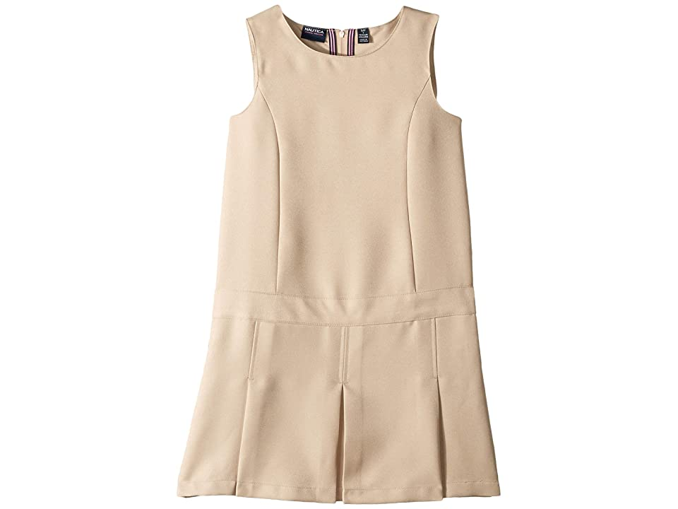 Nautica Kids Pleated Jumper (Big Kids) (Khaki) Girl