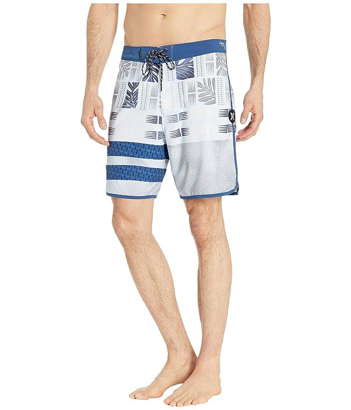 Hurley 18 Phantom Sig Zane Maloulu Boardshorts (Half Blue) Men