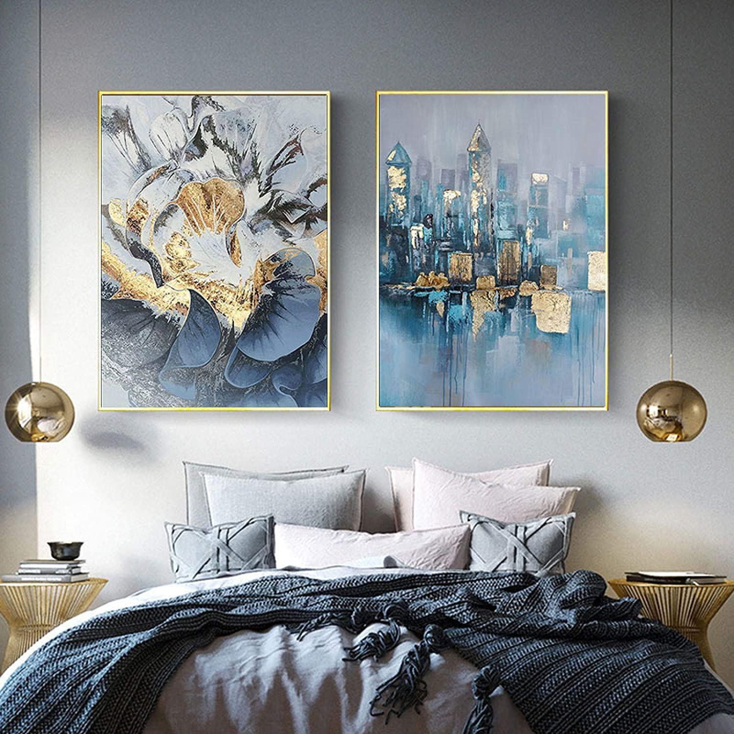 Cheap mail order sales Sunsightly Print on Canvas Abstract C Flower Art Animer and price revision Building Golden