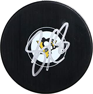 Sidney Crosby Pittsburgh Penguins Signed Autographed Penguins Logo NHL Hockey Puck COA