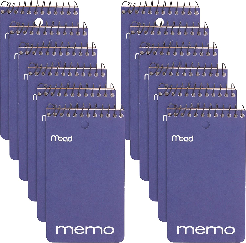 Mead Wirebound Memo Book College Ruled Portland Mall Black 3 Inches free 5 Re x
