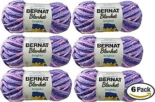 Bulk Buy: Bernat Blanket Yarn (6-Pack) Super Bulky #6 5.3 Ounce 108 Yards Per Skein (Pansy Purple)