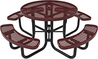 Best hardwood round picnic table Reviews