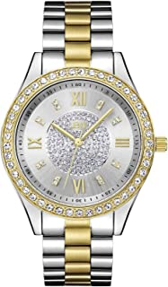JBW Luxury Women's Mondrian 16 Diamonds & Swarovski Crystal Encrusted Bezel Watch