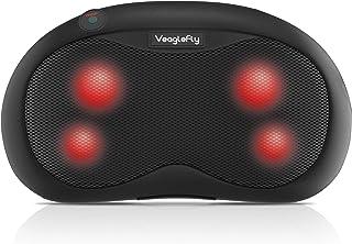 Veaglefly Cojín Masajeador Eléctrico con Calor, Almohada de Masaje de Cuello Masajeador Shiatsu con Amasamiento 3D para Alivio Completo del Cuerpo para Coche Oficina Casa