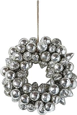 Creative Co-Op Glass Wreath Ornament, Multicolor