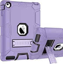 iPad 2 Case,iPad 3/4 Case,BENTOBEN Kickstand Anti-Slip 3 in 1 Full-Body Rugged Heavy Duty Shockproof Soft Rubber Cover Hard PC Bumper Protective Case for iPad 2nd /3rd /4th Generation,Purple/Black