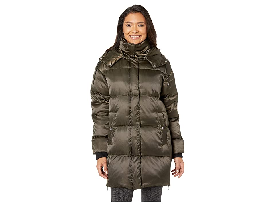 Vince Camuto Oversized Hooded Down Coat R1291 (Olive) Women