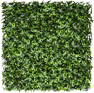 Shecraft Artificial Boxwood Panels Topiary Hedge Plant UV Protected Privacy Ivy Screen Faux Greenery Wall Décor for Outdoo...