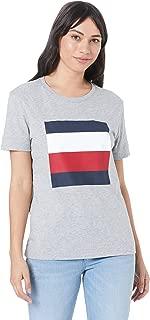 TOMMY HILFIGER Women's Organic Cotton Colour-Blocked T-Shirt