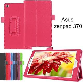 Asng ASUS ZenPad 7.0 Z370KL Z370C Z370CG ケース オートスリープ機能付き スタンド機能付き 耐衝撃 折り畳み 横開き 軽量型 (ローズレッド)