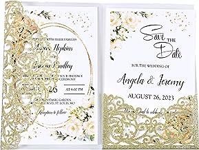 romantic KlrKrea fairy customizable Princess Wedding invitation wedding invitation wedding pocketfold wedding