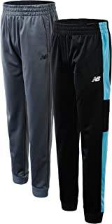 New Balance Boys' Athletic Sweatpants - 2 Pack Performance Tricot Jogger Pants (Little Boy/Big Boy)