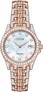 Women's Eco-Drive Watch with Crystal Accents, EW1228-53D