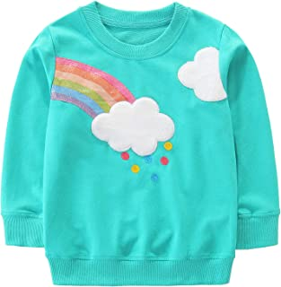 Toddler Girl Sweatshirt Clothes Outfit,Cotton Crewneck Christmas Clothing