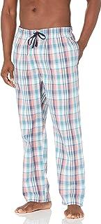 Nautica Men's Soft Woven 100% Cotton Elastic Waistband Sleep Pajama Pant, Sugar Coral, X-Large