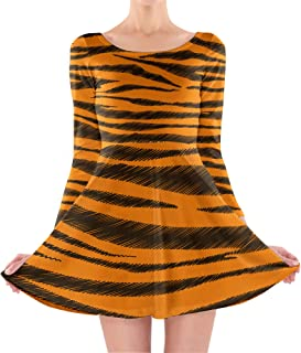 Rainbow Rules Tigger Stripes Winnie The Pooh Inspired Longsleeve Skater Dress