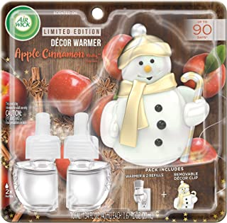 Sponsored Ad - Air Wick Plug in Scented Oil Starter Kit with Snowman Free Decorative Warmer + 2 Refills, Apple Cinnamon, F...