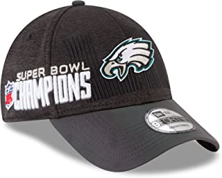 Philadelphia Eagles New Era Super Bowl LII 52 Champions Trophy Collection Locker Room 9FORTY Adjustable Hat - Black