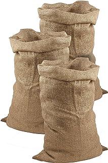 comprar comparacion Juego de 3 sacos de yute de Meister, 105x 60cm, 50 kg de carga, sacos ecológicos de fibra natural, 100 % yute, sacos de ...