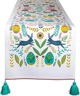 DII Cotton Table Runner for Dinner Parties, Weddings & Everyday Use, Tablerunner, Easter Folk