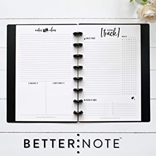 BetterNote Keeping Track Pages for Half Letter Discbound Notebook, Fits TUL, Arc, Levenger Circa, 5.5