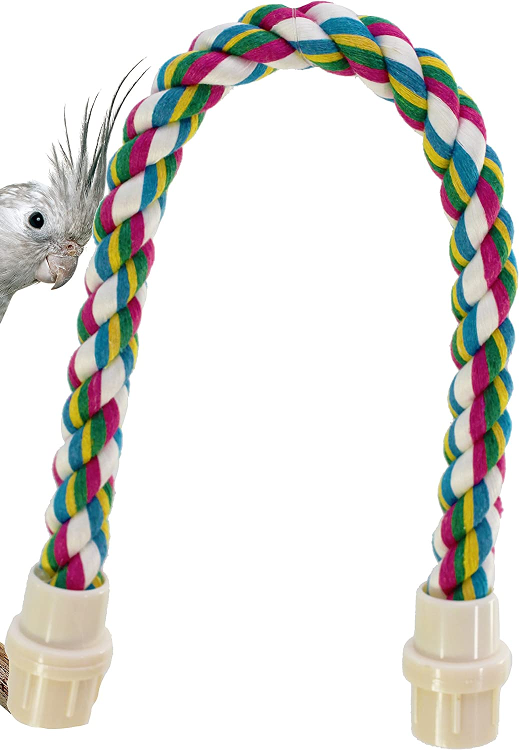 1674 20inch Parred Rope Perch Bird Toy Toys cage Budgie Conure Cockatiel Amazons