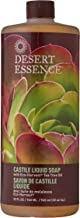 Desert Essence Castile Liquid Soap With Eco-Harvest Tea Tree Oil - 32 Fl Oz - Face & Body Cleansing - Coconut & Olive Oil - May Diminish Imperfections & Help Reduce Oil