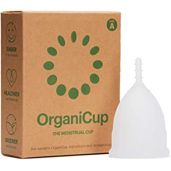 OrganiCup Menstrual Cup - Size A/Small - Soft, Flexible, Reusable Medical-Grade Silicone - Pads and Tampons Alternative