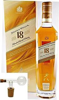 Flasche Johnnie Walker 18 Jahre Ultimate Scotch Whisky  1 Glaskugelportionierer