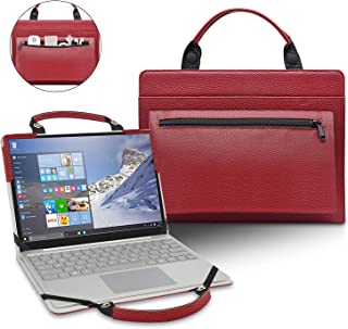 ASUS VivoBook S14 Case,2 in 1 Accurately Designed Protective PU Cover Portable Carrying Bag for 14 ASUS VivoBook S S14 S410 S410UA S410UQ Series Laptop,Red