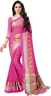 Venisa Women's Linen Cotton Saree with Blouse Piece-CT